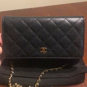 Chanel Quilted Caviar WOC